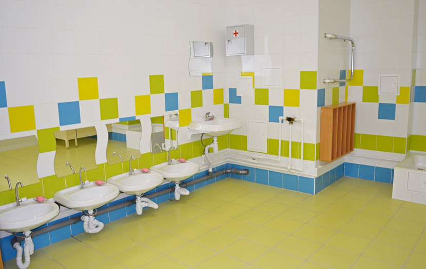 Для дошкольных и ясельных групп площадь туалета